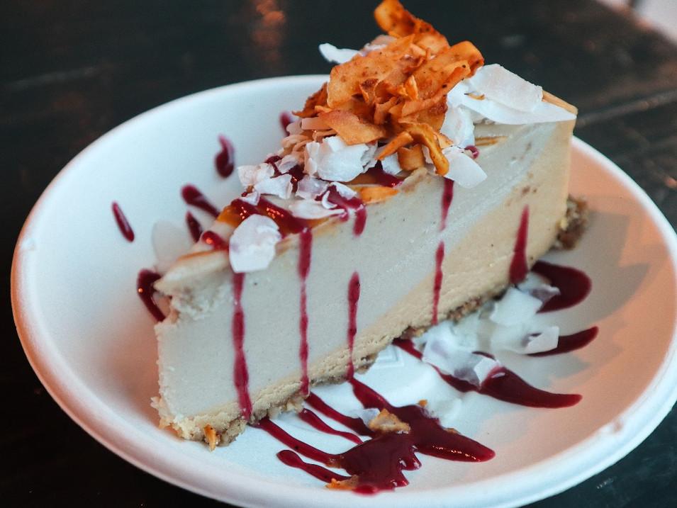roatating cashew cheesecake | $9