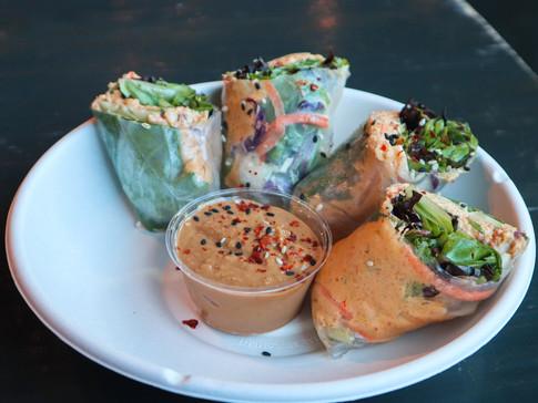 kimchi spring rolls (gf)   $11