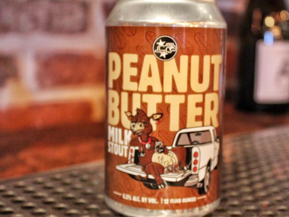 Tailgate Peanut Butter Milk Stout   $5.5