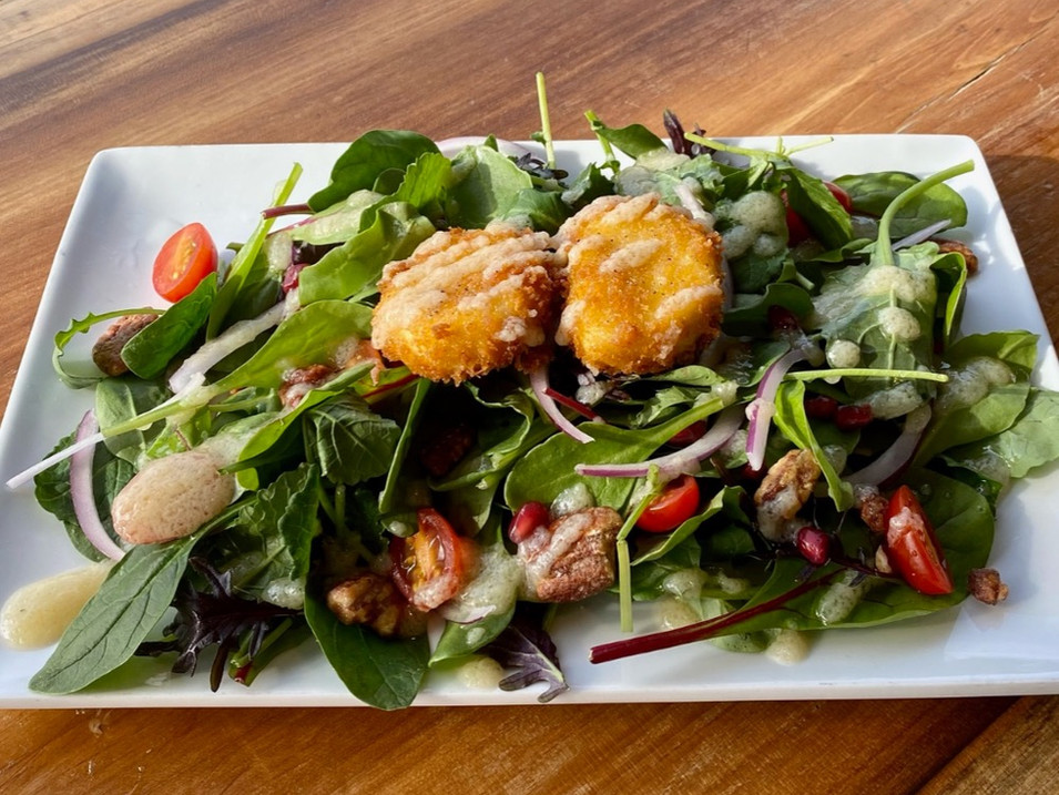 FRIED GOAT CHEESE SALAD | $10.50