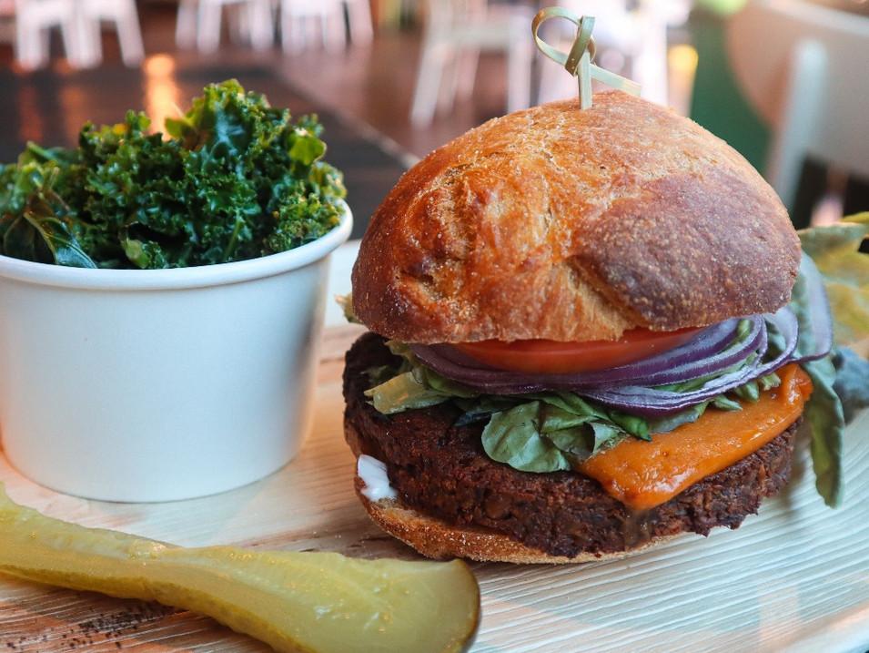 lentil-walnut burger | $14