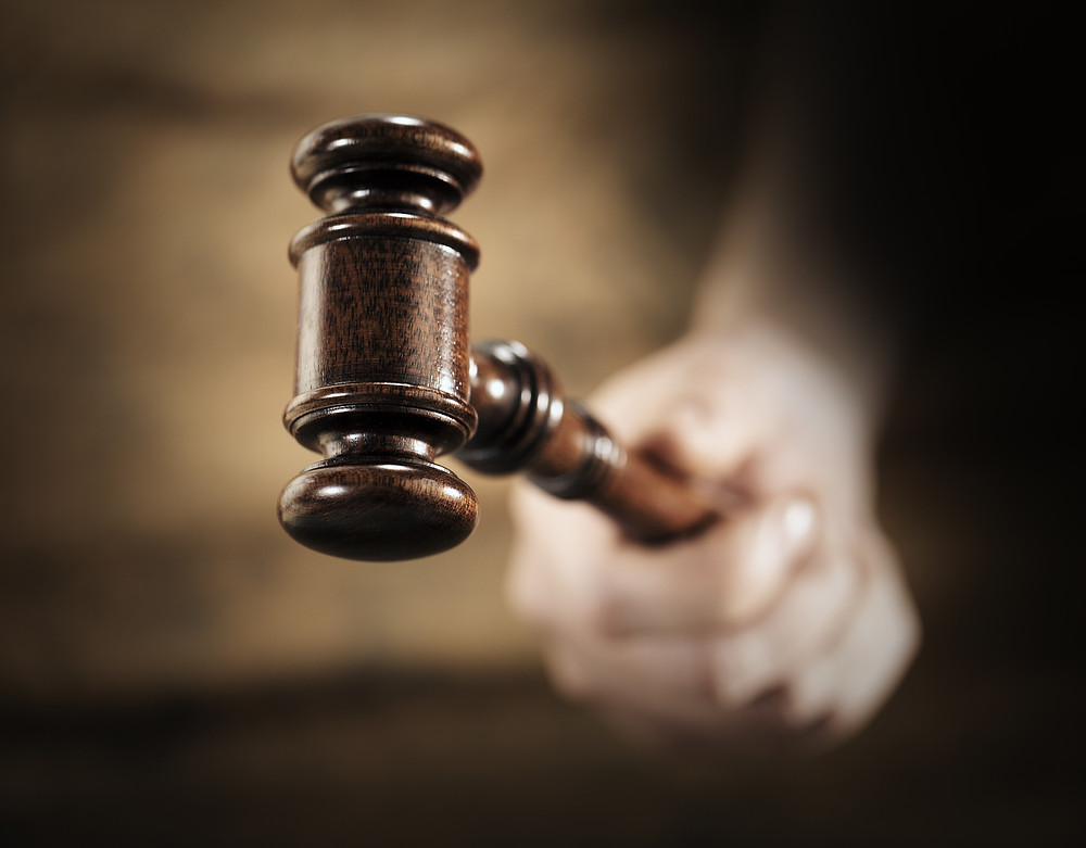 Gavel Criminal Defendant Incarcerated