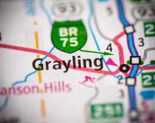 Grayling. Northern Michigan. Defense Att