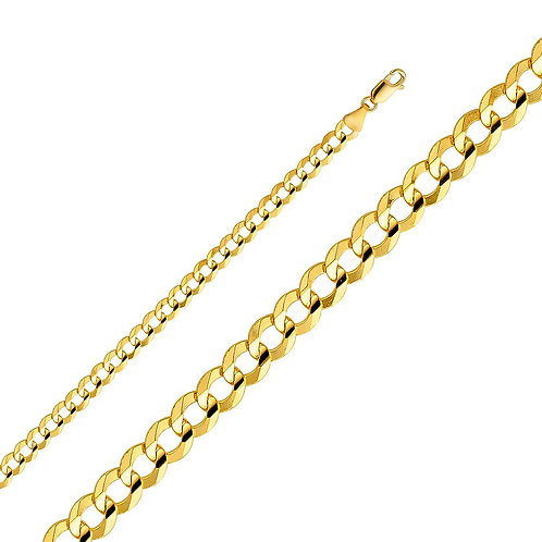 14k Yellow Gold 5.7-mm Cuban Chain Necklace