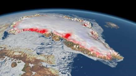 Greenland's ice sheets melt beyond tipping point.