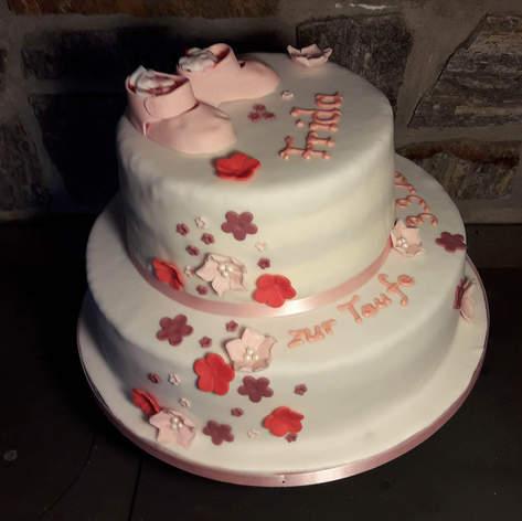 Nur Torte: Taufe