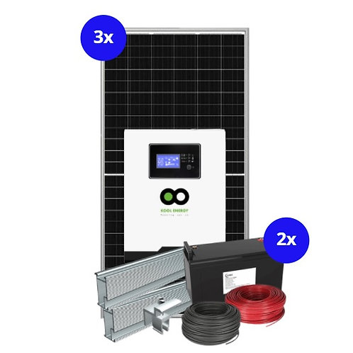 2.2kW Inverter System with 2.4kW battery backup