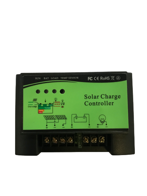 30A 12/24V Solar Charge Controller PWM with LED Indicator (Green)