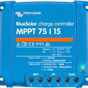 Victron Blue Solar MPPT Regulator max 75Voc input / 15A Charge (12/24V-15A)