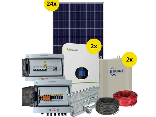 10kW Inverter System with 11kW battery backup