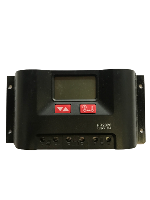 Setsolar PR2020 12/24V Solar Charge Controller with LCD