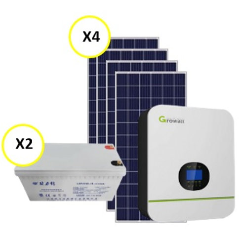 3kW Inverter System with 4.8kW battery backup
