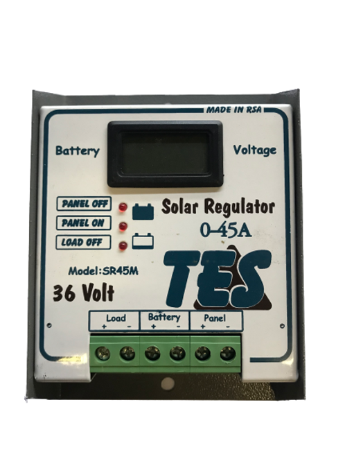 TES 45A 36V Solar Charge Controller with LCD Meter (demo)