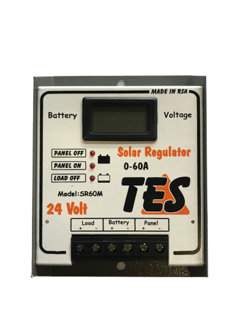 TES 60A 24V Solar Charge Controller with LCD Meter (demo)