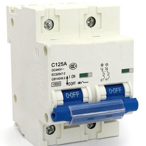 Circuit Breaker C-Curve Chint 10kA 2P 125A DC