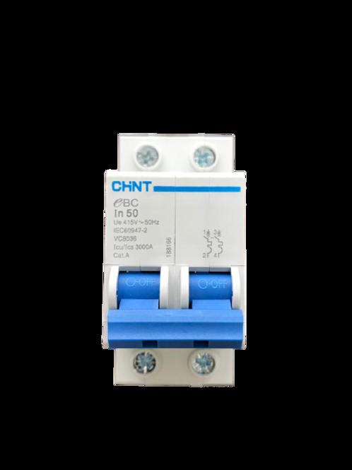 Circuit Breaker C-Curve Chint 3kA 2P 50A