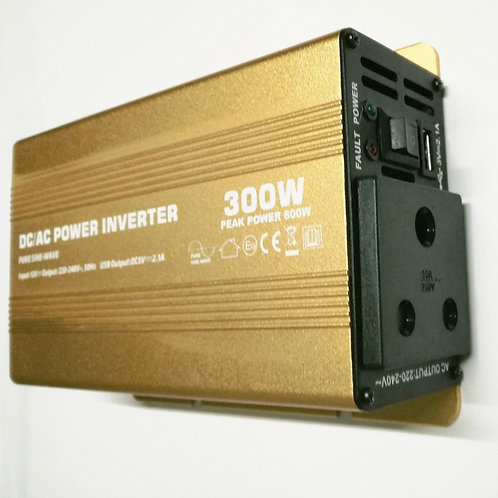 300W 12V PSW Power Inverter with LED (Gold)