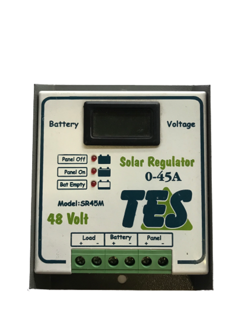 TES 45A 48V Solar Charge Controller with LCD Meter (demo)