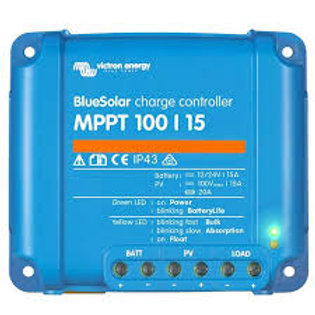 Victron Blue Solar MPPT Regulator max 100Voc input / 15A Charge (12/24V-15A)