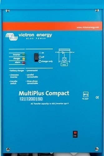 Victron MultiPlus Compact Inverter 12V 1200VA 50Adc Charger 16Aac Transfer Relay