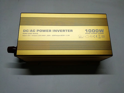 1000W 12V PSW Power Inverter with LED (Gold)