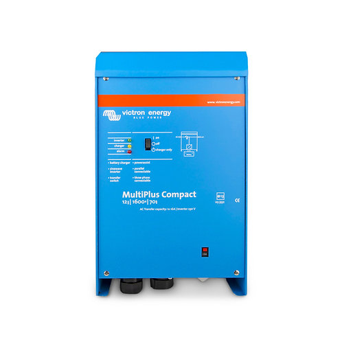 Victron MultiPlus Compact Inverter 12V 800VA 35Adc Charger-16Aac Transfer Relay