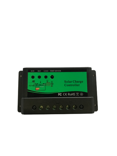 10A 12/24V Solar Charge Controller PWM with LED Indicator (Green)