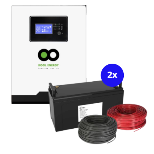 2.2kW Inverter with 2.4kW battery backup