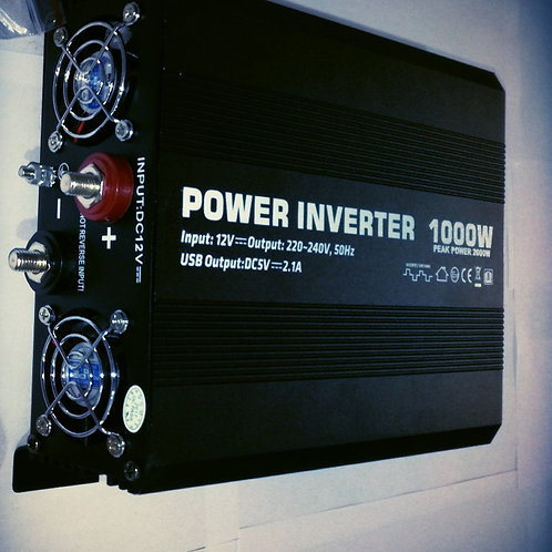 1000W 12V MSW Power Inverter (Black)