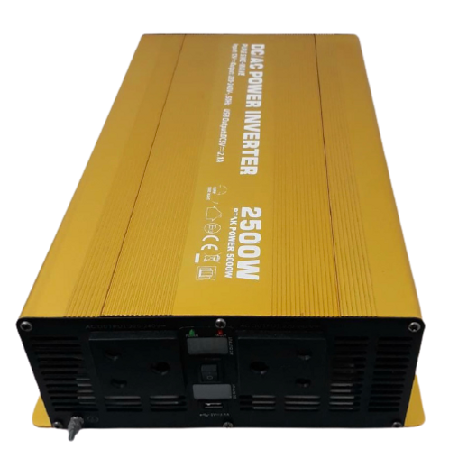DC/AC Power Inverter 2500W Gold (Refurbished)