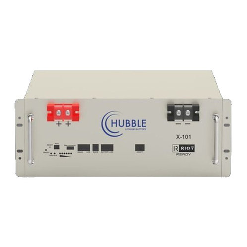 Hubble Lithium Ion Battery 51V 100Ah 5.5 kWh CANbus 1C Rack
