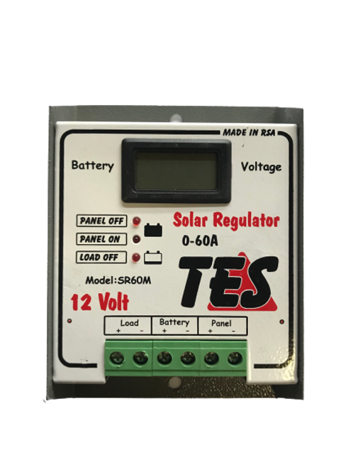 TES 60A 12V Solar Charge Controller with LCD Meter (demo)