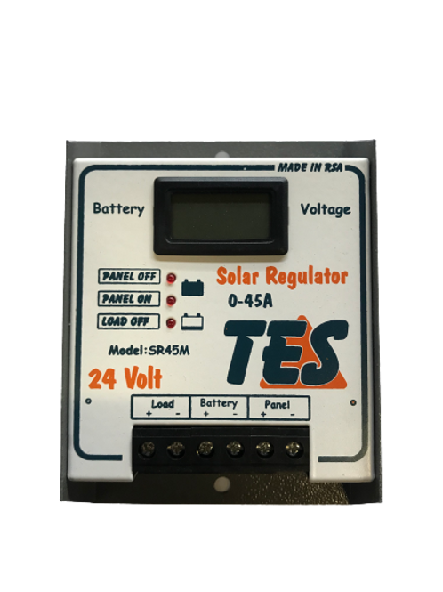 TES 45A 24V Solar Charge Controller with LCD Meter (demo)