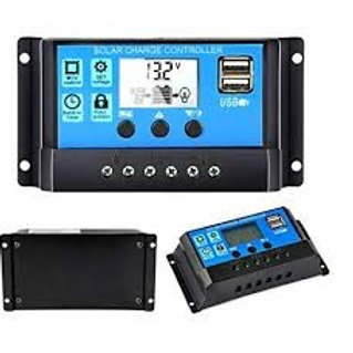 Charge Controller 20A 12/24V LCD Display and USB