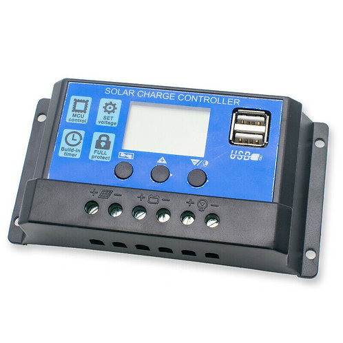 Charge Controller 10A 12V/24V LCD Display and USB