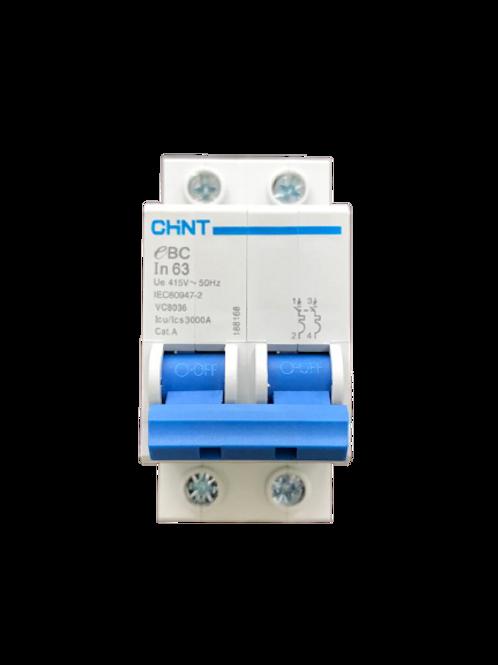 Circuit Breaker C-Curve Chint 3kA 2P 63A