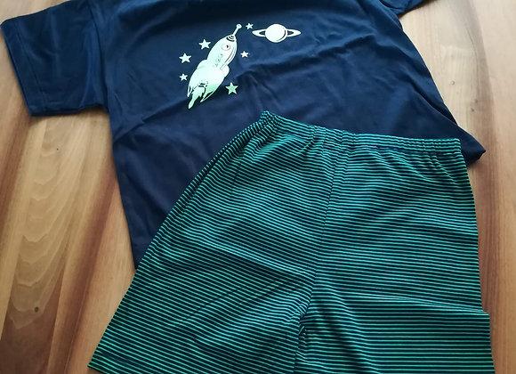 Pyjama Rakete nachtleuchtend Gr. 128