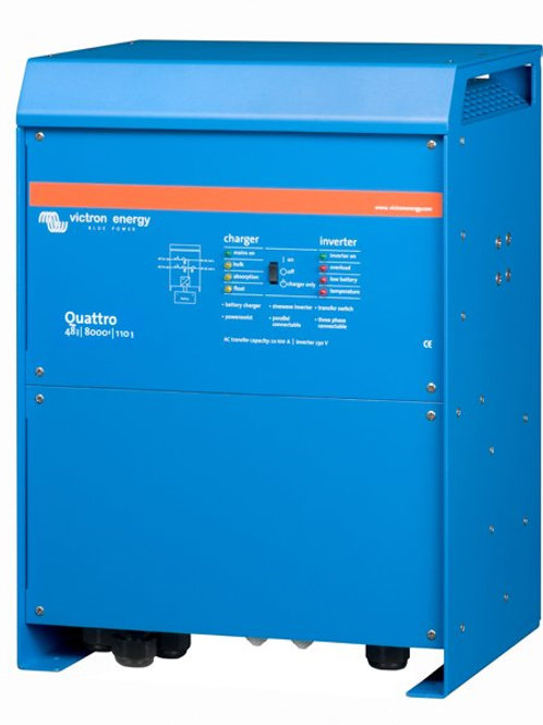 Victron Quattro Inverter 48V 8kVA 110A Charger 100A Transfer Relay
