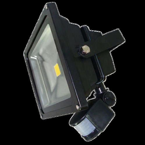 30W 220V LED Floodlight Black with PIR Sensor