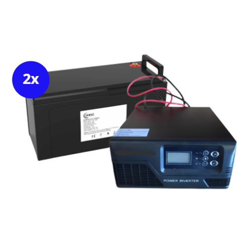 1000W 24V PSW Inverter Charger with 2.4kW battery backup