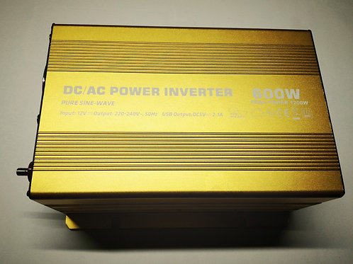 600W 12V PSW Power Inverter with LED (Gold)