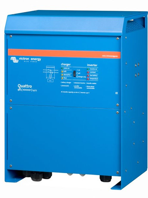 Victron Quattro Inverter 48V 10kVA 140A Charger 100A Transfer Relay