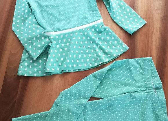 Pyjama mit Röckliteil und Leggins Gr. 98