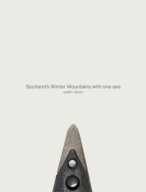 Scotlands Winter Mountains with one axe