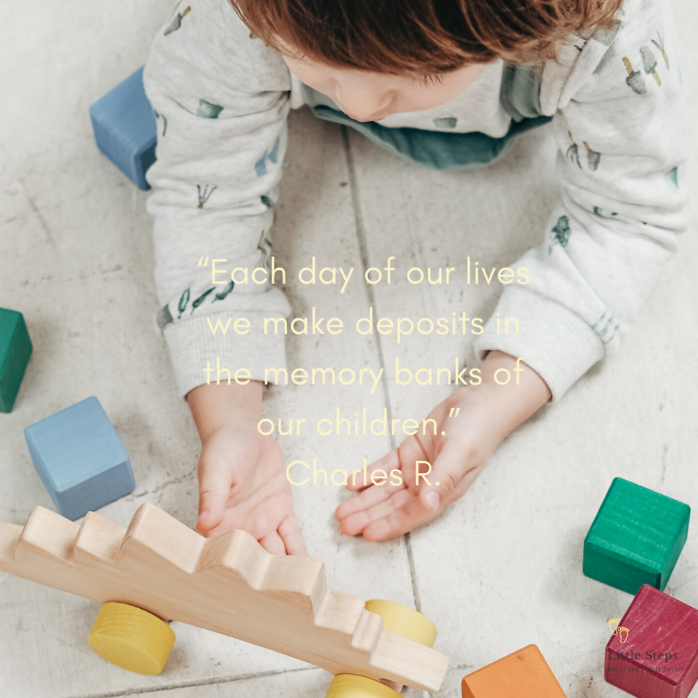 Childcare quote with memory and play as a nanny agency