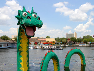 Nessie visited Disney World...and so did we! Check out Joe being a lean, mean, green machine!