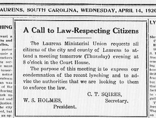 Laurens Legal History: The Tragedy of Joe Stewart