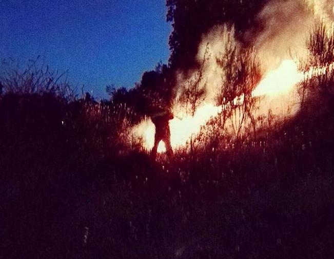 incendio Castelnuovo di Porto