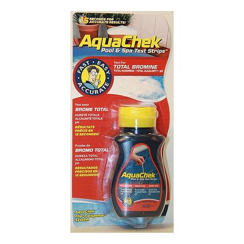 Rouge Bandelettes test Brome (Br/pH/Tac/Th) - AQUA CHEK