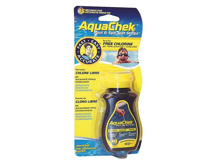 AquaChek jaune -Testeur ch/ph/alc/stab